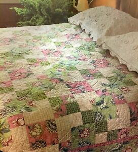 Spring Paradise Quilt Pattern - Counterpane & Four-Patch Blocks!