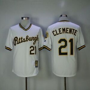 Pittsburgh Roberto Clemente Jersey #21 white Rookie Retro Jersey Baseball