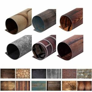 6*Double-sided Textured Backdrop Paper Food Shoot Photo Prop Background 60x90cm