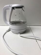 OVENTE 1.5L BPA-FREE GLASS ELECTRIC KETTLE WHITE (KG83W)