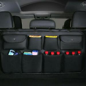 Car Interior Accessories Rear Seat Back Storage Bag Trunk Organizer Pu Leather
