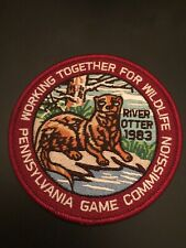 1983 Wtfw Pennsylvania Game Commission Reproduction Patch River Otter