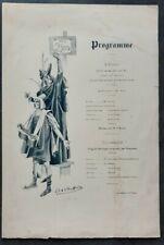 RARE+Montferrier+Ancien Programme+Theatre de societe+Theatre mondain+Jules Danbe