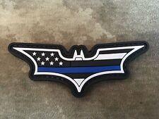 "Thin Blue Line American Flag Batman ""Dark Knight"" PVC Patch"