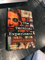 1995 Terminal Experiment Robert Sawyer Rare Signed SF HC DJ Book 1st Ed Harper