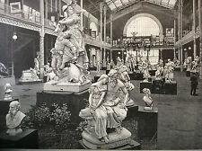 Exposition Universelle Paris 1889 la sculpture française estampe Boulenaz