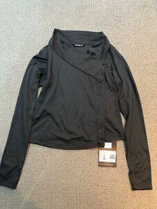 ARCTERYX Womens Yonge Long-Sleeve Wrap | Black Grey Size Medium | RRP £73