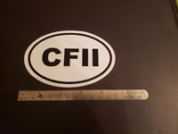 CFII Oval Sticker Aviation Pilot Aircraft Cessna Piper Cirrus Diamond Mooney