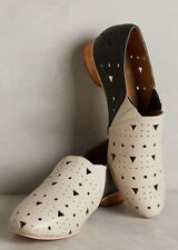 NEW Nina Payne Marlowe Perforated Loafers Size 38 Art Deco Flats