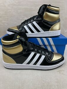 Adidas Top Ten Hi (RB) Black Gold  Patent Men's Size 11 (FX7873)