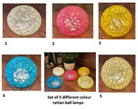 Rattan Ball LED Colour Changing Table Desk Bedside Night Light Lamp Home Decor