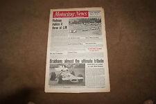 Motoring News 3 December 1970 Jack Brabham Carlos Pace Australian GP Porsche 914