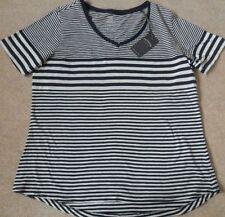 Fat Face Hip Length Short Sleeve Striped T-Shirts for Women