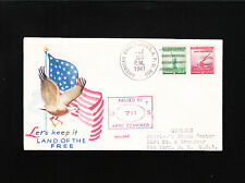 WWII Patriotic 1941 US Flag Eagle APO 803 Trinidad Censor 711 Cover ß