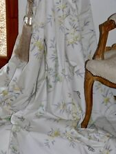 """DESIGNERS GUILD CURTAINS Interlined BUTTERFLIES Rosa Chinensis Ea 76""""W 101""""D"""