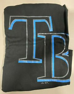 Tampa Bay Rays Men's MLB Majestic Black Pop Logo T-Shirt Big & Tall