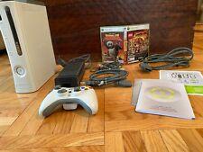 Microsoft Xbox 360 Pro Edition 60Gb White Console + Controller + 2 Game Bundle