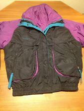 Women's Columbia Powder Keg 4-in-1 Winter Jacket Coat Medium M black purple teal