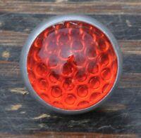 Orange Round Glass Jewel Reflector Vintage Schwinn Bicycle Rack Antique Bike Car