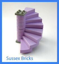 Lego Castle - Lavender Complete Spiral Staircase Elves - New Pieces