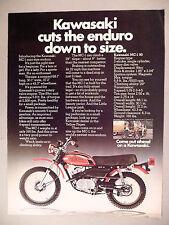 Kawasaki MC-1 Enduro Motorcycle PRINT AD - 1973