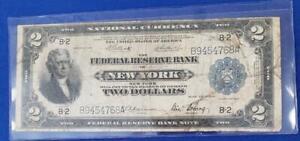 1918 $2 FRBN BATTLESHIP FR.# 752 New York scarce L10407