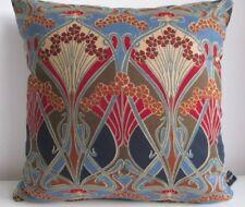 Liberty - William Morris Ianthe & Designer Velvet Fabric Arts Cushion Cover Navy