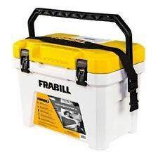 Frabill Magnum Bait Station 13 Quart Live Bait Well, White and Yellow