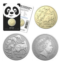 2019 Mob of Roos Panda Privy Mark $1 AlBr Coin and 1oz Silver Coin