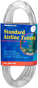 Airline Tubing Aquariums Clear Flexible Resists Kinking 8 Feet New BEST PRICE