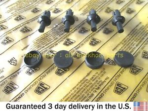 JCB BACKHOE - GENUINE JCB BOOM LOGO HARDWARE KIT, 4 PC EA. (826/00867 835/00049)