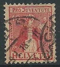 1917 SVIZZERA USATO PRO JUVENTUTE 10 CENT - G036