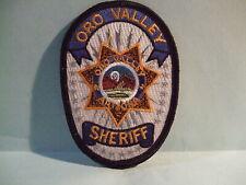 police patch  ORO VALLEY SHERIFF ARIZONA