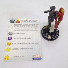 Heroclix Web of Spider-Man set Iron Man / War Machine #059 Super Rare fig w/card