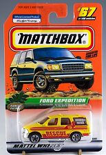 Matchbox MB 67 Ford Expedition Yellow Rescue Mint On Card 1999