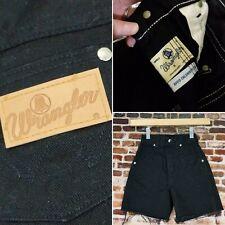 Vintage Wrangler Kid's Shorts Black Cut Offs Blue Bell Girl's Size 8 Jeans Retro