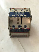 vintage cash register shaped dime bank, made by J. Chein Co
