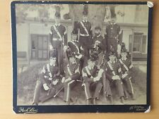 RARE VINTAGE MILITARY: Armed with Swords Military School Cadets Pach Bros. Photo