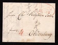 $German Stampless Cover, Emden-Oldenburg (red-oval) 26. May 1818