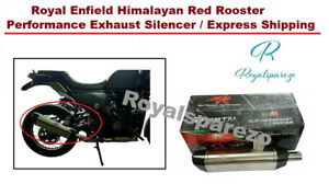 Royal Enfield Himalayan Red Rooster Performance Exhaust Silencer/ Express Ship