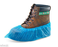 Disposable BLUE PVC Plastic Over Shoes / Shoe Boot Covers Carpet Protectors