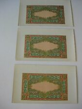 Cigar Box Label Printer's Copy Set of 3 Engraved Color Paper Ephemera old
