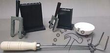 Reversibile Lingotto Stampi + Crogioli Ceramica Piatti + Pinze Supporto Fusione