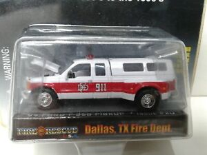 Dallas Texas Fire Rescue Racing Champions '99 Ford F-350 Pickup Truck Dually