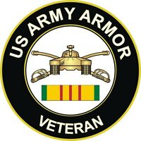 "Army Armor Vietnam Veteran 5.5"" Window Sticker Decal"
