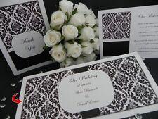 Baroque Black Engagement Anniversary Wedding Invitations DL SAMPLE