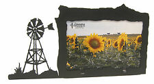"Windmill Picture Frame 4""x6"" H - Farm - Ranch Wind Mill"