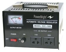 NEW PowerBright 1000 Watt Voltage Regulator Converter 110-220 Volts