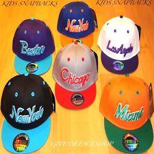 EXCLUSIVE KIDS SNAPBACK CAPS, BOYS/GIRLS FLAT PEAK FITTED HATS, HIP HOP CHILDREN