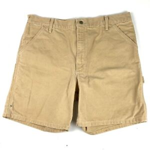 Carhartt Men's Duck Canvas Work Shorts Size 38 Brown B24WET